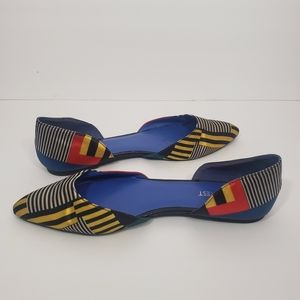 NINE WEST multicolor starship two piece flat 9M
